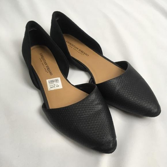 634e3e962f50 NWT Christian Siriano Flats Black